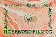 Rosewood Film Co. pink and green branding using triply painted layer. Graphic Design Branding, Lettering Design, E Design, Print Design, Poster Layout, Typography Logo, Design Reference, Business Design, Graphic Design Inspiration