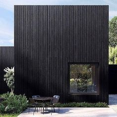 40 Impressive Black House Exterior Design Ideas To Make Your House Looks More Awesome Architecture Résidentielle, Commercial Architecture, Wooden Facade, Black House Exterior, Timber Cladding, House In The Woods, Exterior Design, Villa, House Design