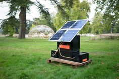 The SunZilla 3.0 is a modular, open-source solar panel that green, quiet, and perfect for outdoor events.