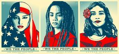Shepard Fairey in collaboration with Jessica Sabogal and Ernesto Yerena, We the People, Screen Print, 2016. Printmaking has long been used to express political opinions and world views. This series of prints was created in response to what the artists believed was negative rhetoric from the Trump campaign. These prints are a contemporary example of how artists can work collaboratively to express their political beliefs and ideologies and communicate with an audience.
