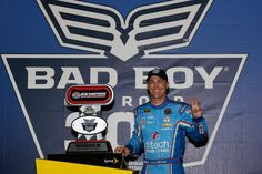 Kevin Harvick Photos Photos - Kevin Harvick, driver of the #4 ditech Chevrolet, poses in Victory Lane after winning the NASCAR Sprint Cup Series Bad Boy Off Road 300 at New Hampshire Motor Speedway on September 25, 2016 in Loudon, New Hampshire. - NASCAR Sprint Cup Series Bad Boy Off Road 300
