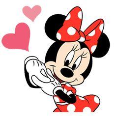 Tenemos stickers animados de Minnie Mouse para llenar de cariños y coqueterías tus chats. Es igual de adorable que siempre♪