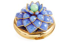 Mark Walsh Leslie Chin (MWLC) collection - Lavender Zinnia Powder Compact on OneKingsLane.com