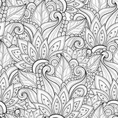 Patrones florales monocromo abstracto sin fisuras — Vector de stock #71208487