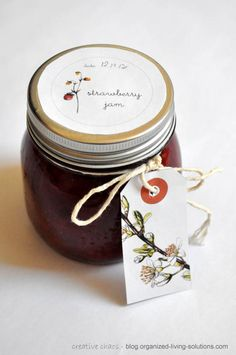 organized living solutions: Printable jam labels