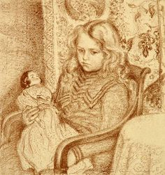 Georges Lemmen, Girl with Doll.