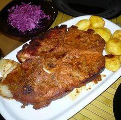 Kőkorszaki szakik kedvence Recept képpel - Mindmegette.hu - Receptek Chili, Steak, Bacon, Pork, Kale Stir Fry, Chile, Steaks, Chilis, Pork Chops