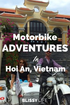 Explore the sites of Hoi An, Vietnam with an incredible vintage Motorbike tour with Victoria Resort. Check it out! via @blissy_life