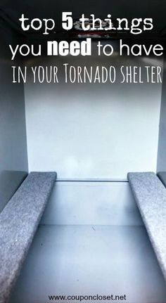 Top 5 Things You Should Put in Your Storm Shelter so you are prepared for bad weather. What do you keep in your tornado shelter? Best Thrifty Tips Tornado Preparedness, Disaster Preparedness, Tornado Safe Room, Tornado Season, Storm Cellar, Emergency Preparation, Emergency Planning, Emergency Kits, Family Emergency