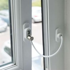 Penkid Window Cable Restrictor White - window fittings - window restrictors - PENKID Window Cable Restrictor White - Timber, Tool and Hardware Merchants established in 1933