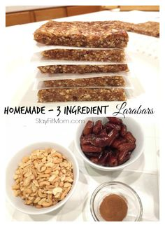 Homemade Larabars 3 Ingredient Larabars are a healthy snack for the whole family to enjoy! These are so easy to make! Whole 30 Snacks, Whole 30 Lunch, Whole 30 Recipes, Protein Snacks, High Protein, Fat Bombs, Healthy Treats, Healthy Recipes, Cashew Recipes