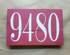 """12""""×7"""" handmade sign painted with chalk paint and protected with an enamel coating. Comes ready to hang. House Address Sign, Address Signs, Painted Signs, Flip Clock, Chalk Paint, Enamel, Farmhouse, Handmade, Vitreous Enamel"""