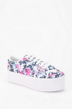 ZOMG Floral.. #urbanoutfitters #jeffreycampbell #platform #sneaker