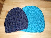 Knitting with Schnapps: Crossed Comfort Cap--extra warm