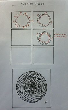 Zentangle Pattern Paradox by Lena