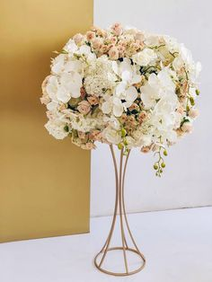 Gorgeous metal centerpiece for your wedding day is part of Wedding centerpieces One more Beautiful metal stand made special for your wedding decoration We know how to decorate beautiful weddings, - Romantic Wedding Centerpieces, Wedding Reception Decorations, Floral Centerpieces, Floral Arrangements, Wedding Bouquets, Centerpiece Ideas, Wedding Columns, Floral Wedding, Wedding Flowers