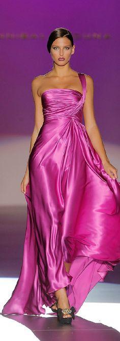 Rosamaria G Frangini | Haute Couture | Hannibal Laguna | Satin Pink Dress
