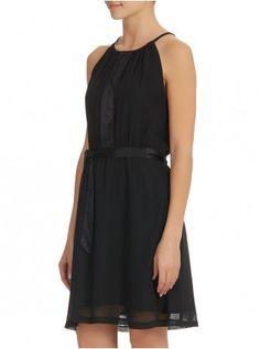 Waist Tie Dress Blac