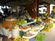 The market in San Ignacio, Belize