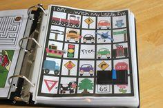 Road Trip Binders for Kids www.gluesticksblog.com