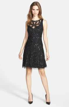Aidan Mattox Cutout Bodice Embellished Dress available at #Nordstrom