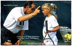 Tennis Coach Nick Bollettieri gives instructions to a young Anna Kournikova during a training session at his tennis academy in 1990. Anna Kournikova and Enrique Iglesias are parents now. ... 12 PHOTOS ... Anna gave birth to twins on 16 December in Miami. Their children names are Nicholas and Lucy. Originally posted: http://softfern.com/NewsDtls.aspx?id=1144&catgry=4 SoftFern News, SoftFern Sport News, SoftFern Health and Beauty News, SoftFern hot girls, t