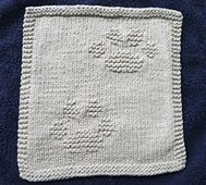 Ravelry: Kitty Prints Dishcloth pattern by Louise Sarrazin