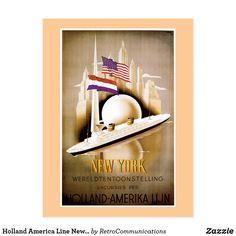 Carte Postale Ligne New York de la Hollande Amérique