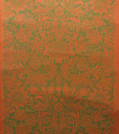 [Sunflower] William Morris Woodblock print Morris & Co. c.1880