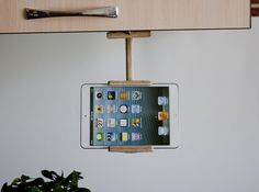 Items similar to Storage&Organization Wood gift for her Back-to-school Gift Kitchen tablet holder wood book stand Tech gift ipad stand kitchen tablet stand on Etsy