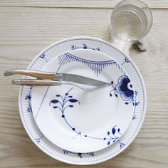 Blue Fluted Plain & Blue Fluted Mega Table Setting in the 2012 Royal Copenhagen Catalogue