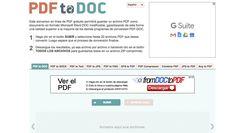 PDF To Doc, una popular página para convertir un PDF a Word