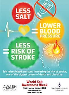 World Salt Awareness Week - 26th March - 1st April 2012. Link to more information at http://healthaware.org/category/2012/15-march-2012/ *