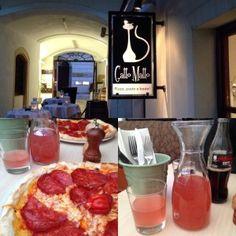 Essen in Bratislava: Pizza und homemade Limonade