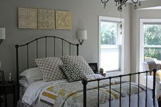 Sherwin Williams - Anew Gray (has a bit of taupe for a warmer color) guest room Taupe Paint Colors, Paint Colors For Home, House Colors, Gray Paint, Wall Colors, Neutral Colors, Gray Bedroom, Bedroom Decor, Bedroom Ideas