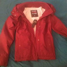 Burgundy Hollister All-Weather Jacket Brand New! Never worn medium Hollister Alll-Weather Jacket. New with tags! Really nice quality, this Burgundy/Maroon color is no longer available on the Hollister website, the color sold out quickly! The photos appear more red than it actually is. Hollister Jackets & Coats