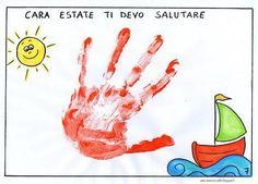 libricino  'ciao estate... vado a scuola!' Montessori Baby, Blog, Back To School, Poster, Teaching, Education, Pinocchio, Granite, Routine