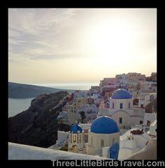 Oia, Santorini - Greece. Love the blue rooftops!