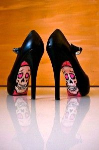 I would wear high heels if they had skulls on them