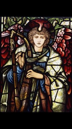 William Morris stained glass panel arts and crafts