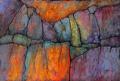 "Ancient Mysteries 2 by Carol Nelson Acrylic ~ 40 x 60  This is a 40x60 commission painting done for the state of Colorado. I've never done a painting this large before, and, since I'm not even 60 inches tall, it was cumbersome for me to handle. It was modeled after another painting of mine, ""Ancient Mysteries 1,"" which is only 30x40."
