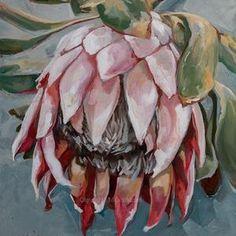 Protea Art, Flower Artwork, Art Flowers, South African Artists, Floral Drawing, Art Drawings Sketches, Beautiful Artwork, Watercolor Flowers, Printable Art