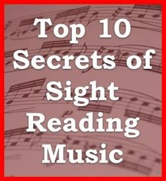 Top 10 Facts About Learning How to Sight Read Music Notes and Rhythms | Learn How to Read Music at the One Minute Music Lesson with Leon Harrell