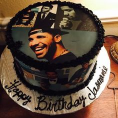 I hereby request all future cakes I consume be adorned with a Drake collage. | 29 Amazing Cakes Every Drake Fan Needs Immediately