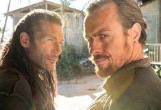 black sails | Black Sails 2014 Zach McGowan, left, as Captain Charles Vane and Toby ...