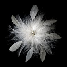 -ivory Bridal Crystal Feather Fascinator Clip 442 with Brooch Pin ( Ivory White Red Black or Cafe )