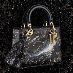 The third and last of the three embroidered special edition 'Lady Dior' bags from the Autumn-Winter 'Dior Moon' capsule collection inspired by prints and premiered… Lady Dior, Luxury Bags, Luxury Handbags, Designer Handbags, Runway Models, Christian Dior, Dior Boutique, Dior Shoes, Dior Fashion