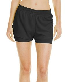 Look what I found on #zulily! Black Contend Two-in-One Shorts #zulilyfinds