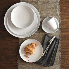 Organic Shaped Dinnerware Set | west elm. I'm thinking I might need a set of white dinnerware.