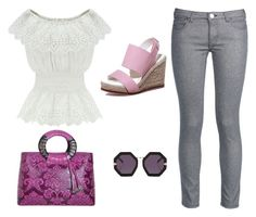 """""""Casual look ♥"""" by lili333 ❤ liked on Polyvore featuring George J. Love, WithChic and Karen Walker"""
